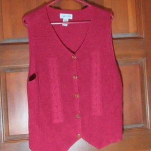 Red CABIN CREEK Knit Vest XL